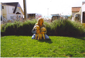 Lauren and her Golden Pups at 16 weeks