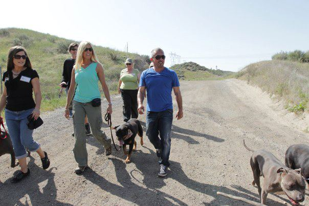 Cesar Millan and Lauren on Pack Walk 2012
